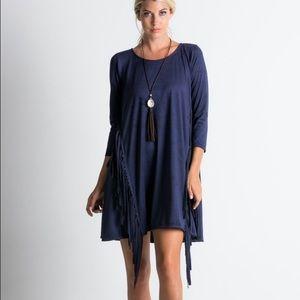 Faux Suede Fringe Dress Boutique