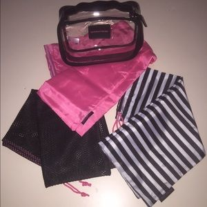 Victoria Secret 4Pc Set Gym Bags Travel Tote New