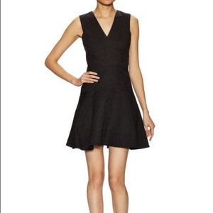 NWT Black Rebecca Taylor Fit and Flare Dress