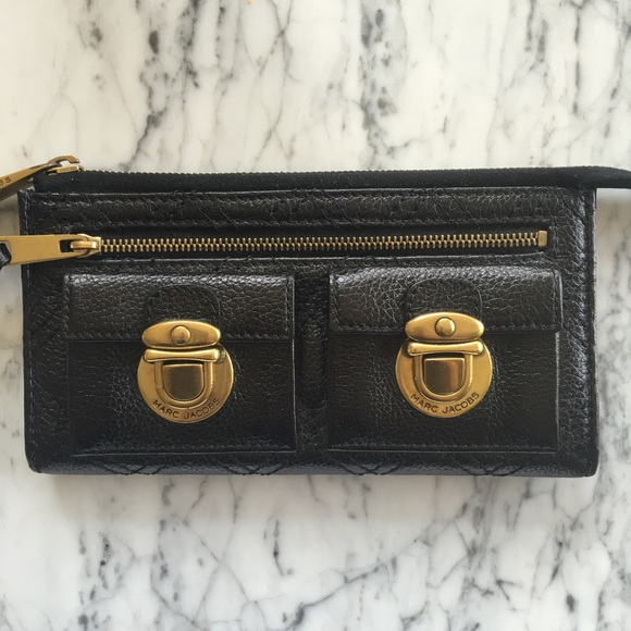 Marc Jacobs - Marc Jacobs Black Quilted Leather Wallet Clutch from ... : marc jacobs quilted wallet - Adamdwight.com