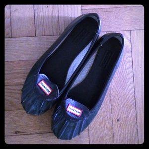 Hunter Boots Shoes - Hunter dark dark green Jena rain flats