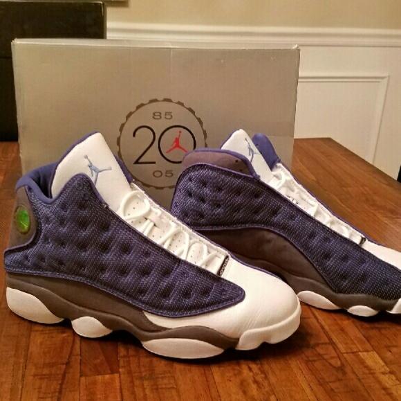 sports shoes d5717 47fc1 NIB 2005 Men's NIKE Air Jordan Retro 13 Blue Flint NWT