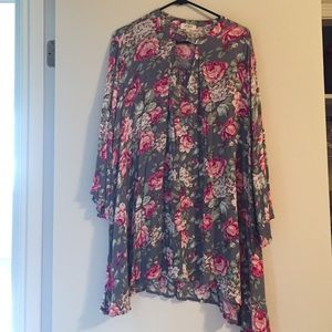 Umgee floral print dress