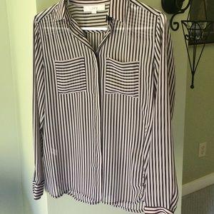 Loft XS sheer shirt