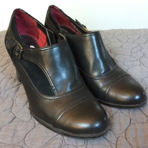 Etienne Aigner Shoes - Etienne Aigner Black Leather Booties