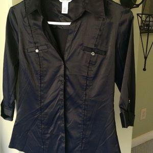 White House Black Market size 2 silky shirt