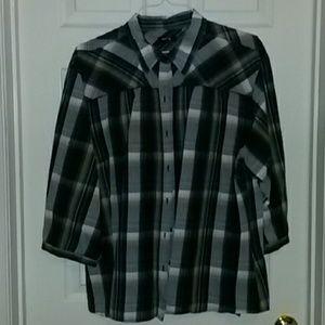 Woman's plaid shirt