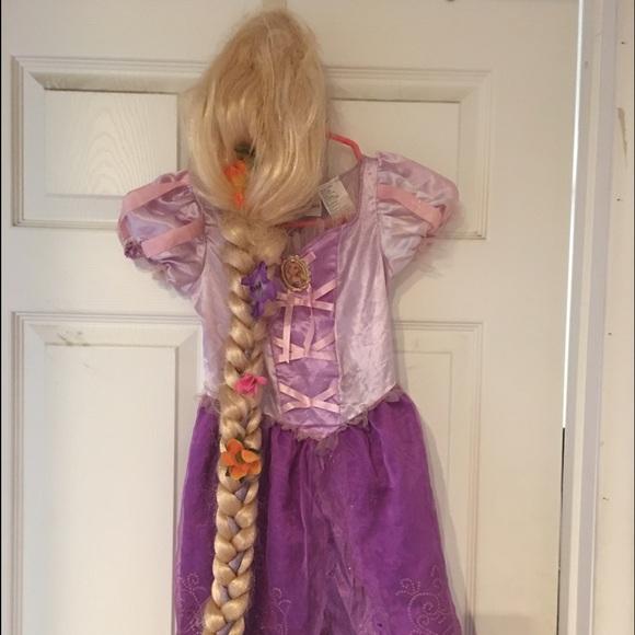 Tangled Rapunzel costume u0026 wig 4-6x & Disney Costumes   Tangled Rapunzel Costume Wig 46x   Poshmark
