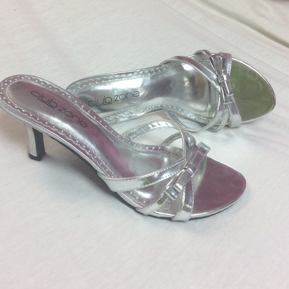 Silver Two Inch Heels
