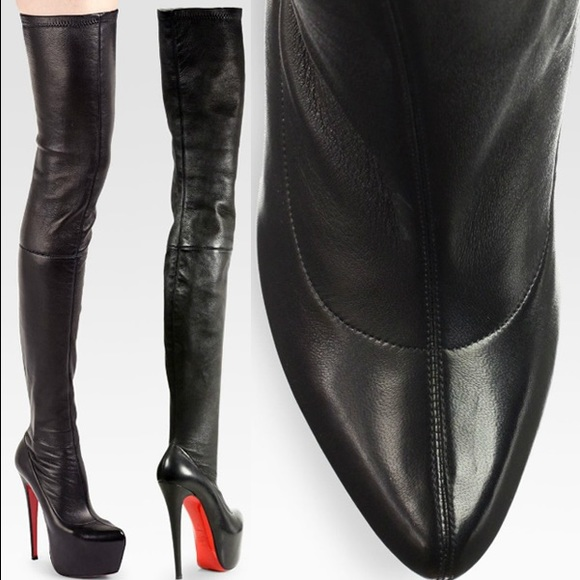 christian louboutin monicarina thigh high leather boots