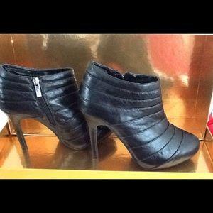Dollhouse Shoes - Black Heel Booties