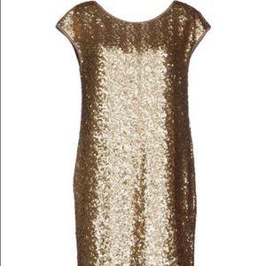 Liu Jo Dresses & Skirts - NWT Liu Jo gold sequin mini, US 2 (IT 38)