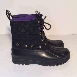 Sperry Shoes - Sperry Quilted Rainboots Duck Shoes BLACK