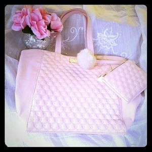 Pink Betsey Johnson  tote