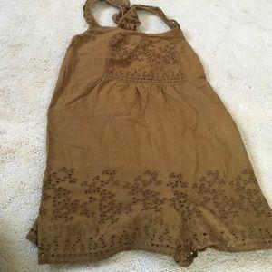 Zara brown embroidery romper