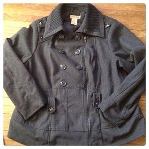 Paris Blues Jackets & Blazers - Final price Charcoal gray studded coat!