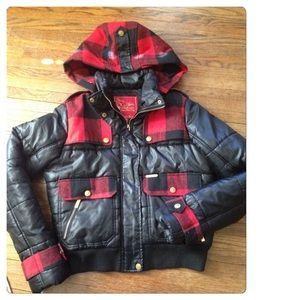 Apple Bottoms Jackets & Blazers - Final price Plaid Apple Bottoms puffer coat!