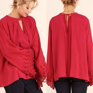 Tops - A Line Top- DEEP RED