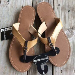 NWT Tan & Brown Sandals