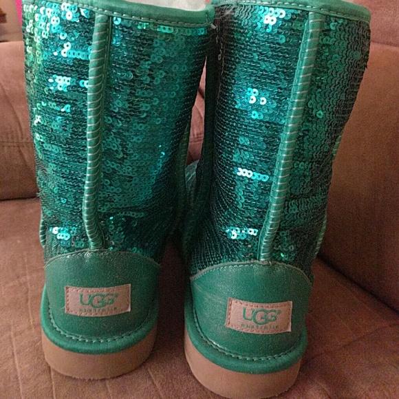 green glitter uggs