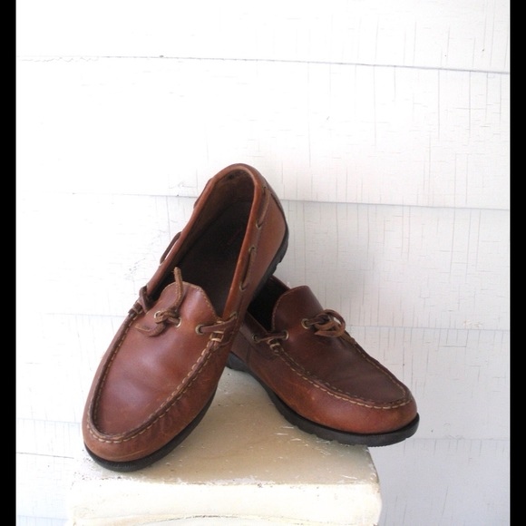 7f4308b81d8e5 Leather 90s Rustic Slip On Loafers Moccasins 9