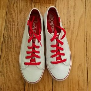 Keds Shoes - ✨Sale ✨ Red and White Keds Sneakers Size 6