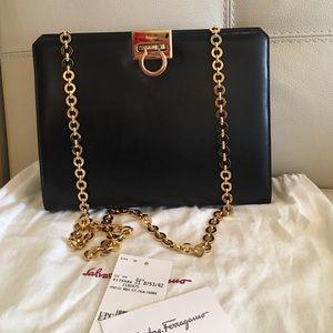 Pristine condition Ferragamo black purse!