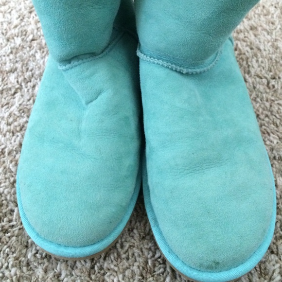 Knitting Slippers For Dummies : Teal color ugg boots