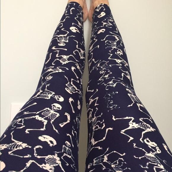 892d28dfa773b2 LuLaRoe Pants | New Skeleton Halloween Legging Os | Poshmark