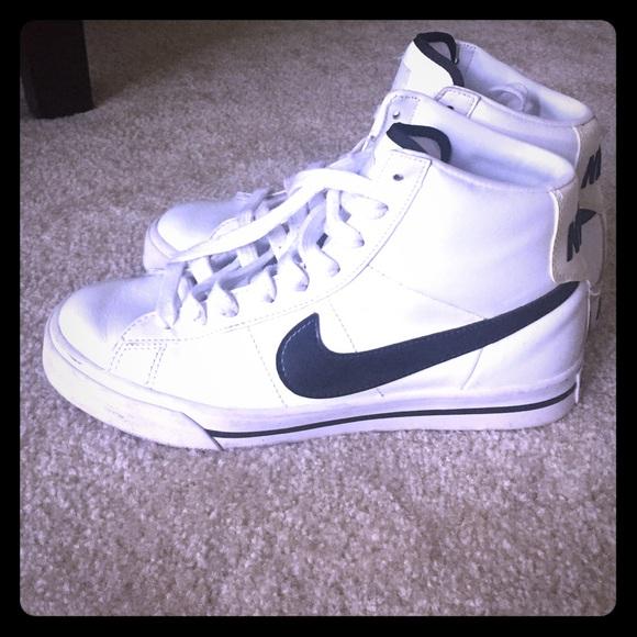 White old school Nike high tops