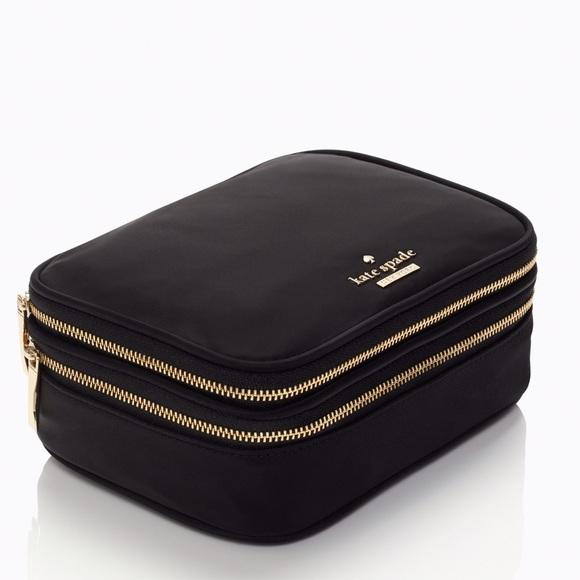 Kate Spade Bags Classic Black Nylon Travel Jewelry Case