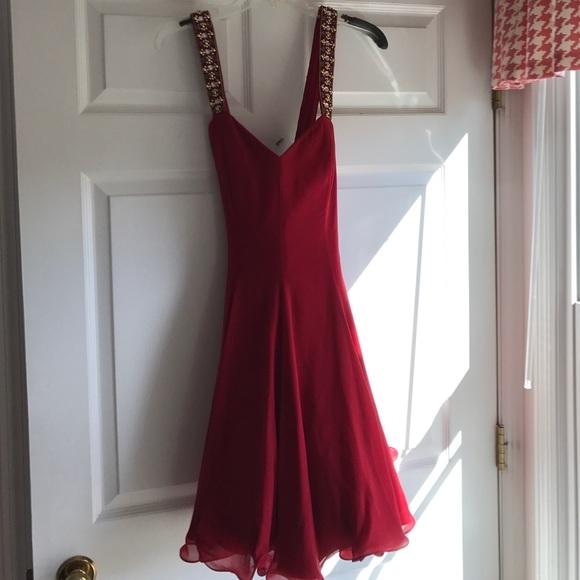 Saks Fifth Avenue Dresses   Red Party Dress   Poshmark