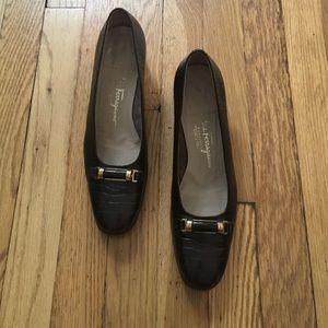 Salvatore Ferragamo Shoes - Salvatore Ferragamo Embossed Leather Pump 8.5