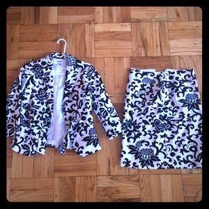 Printed Skirt & Blazer
