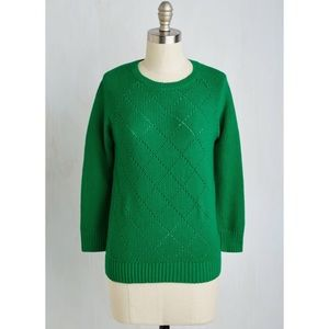 ModCloth Green Sweater