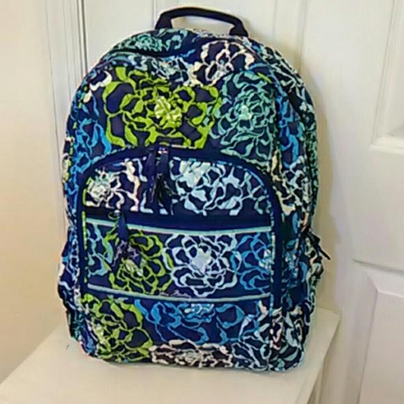 c8c5ad906 Vera Bradley Bags | Campus Backpack In Katalina Blues | Poshmark