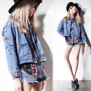 17Basics embroidered denim jacket