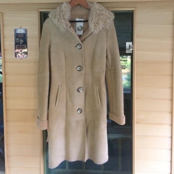 45% off UGG Jackets & Blazers - Ugg Australia Suede Shearling Coat ...