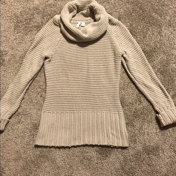 Relativity - Light stone gray cowl neck turtleneck sweater. from ...