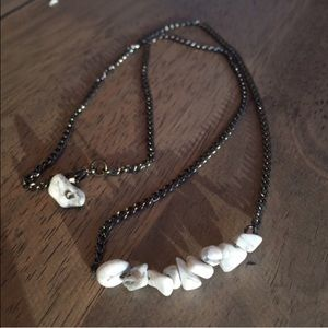 White Howlite Tumble Stone Necklace- New!