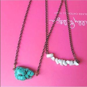 White Howlite Tumble Stone Necklace- New!