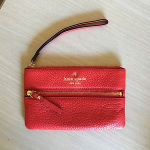 Kate spade wallet/coin purse/ wristlet red