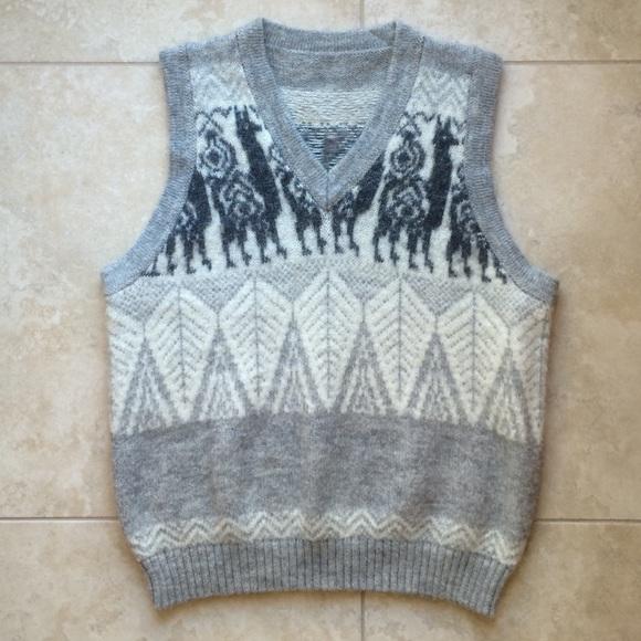 Vintage - Mens vintage llama sweater vest from Jarod's closet on ...