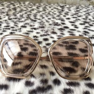 Chloe Accessories - Chloe Square Nude Sunglasses Rare