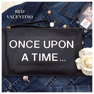 """Valentino Handbags - """"ONCE UPON A TIME"""" BLACK CLUTCH RED VALENTINO"""