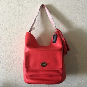 Authentic Coach 21193 Red Bucket bag Leather