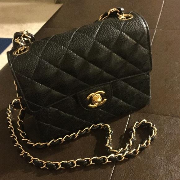 6cb623907efbaf CHANEL Handbags - Chanel Caviar Square Mini Single Flap Bag