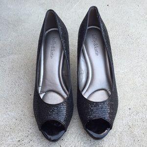 Kelly & Katie Shoes - Kelly & Katie Black Glitter Heels. Size 7 1/2