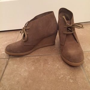 J. Crew Factory Shoes - *Lowest price* J.Crew Factory Suede Lace-Up Wedges