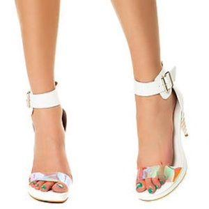 Jeffrey Campbell Shoes - Jeffery Campbell White Unicorn Heel